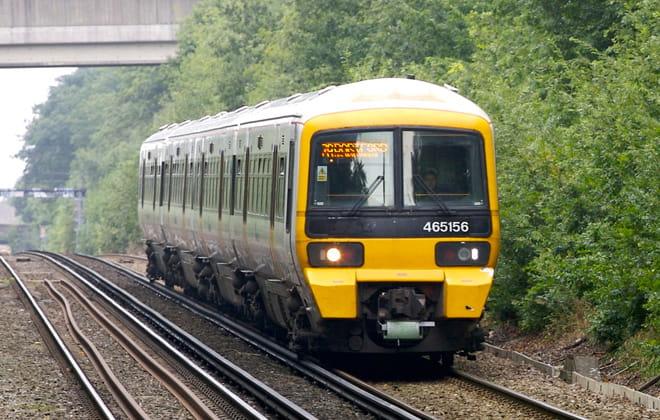 Southeastern train on the tracks