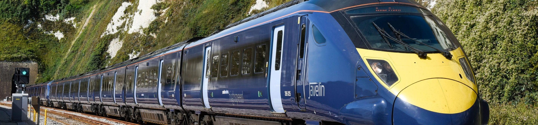 a Southeastern High Speed Javelin train