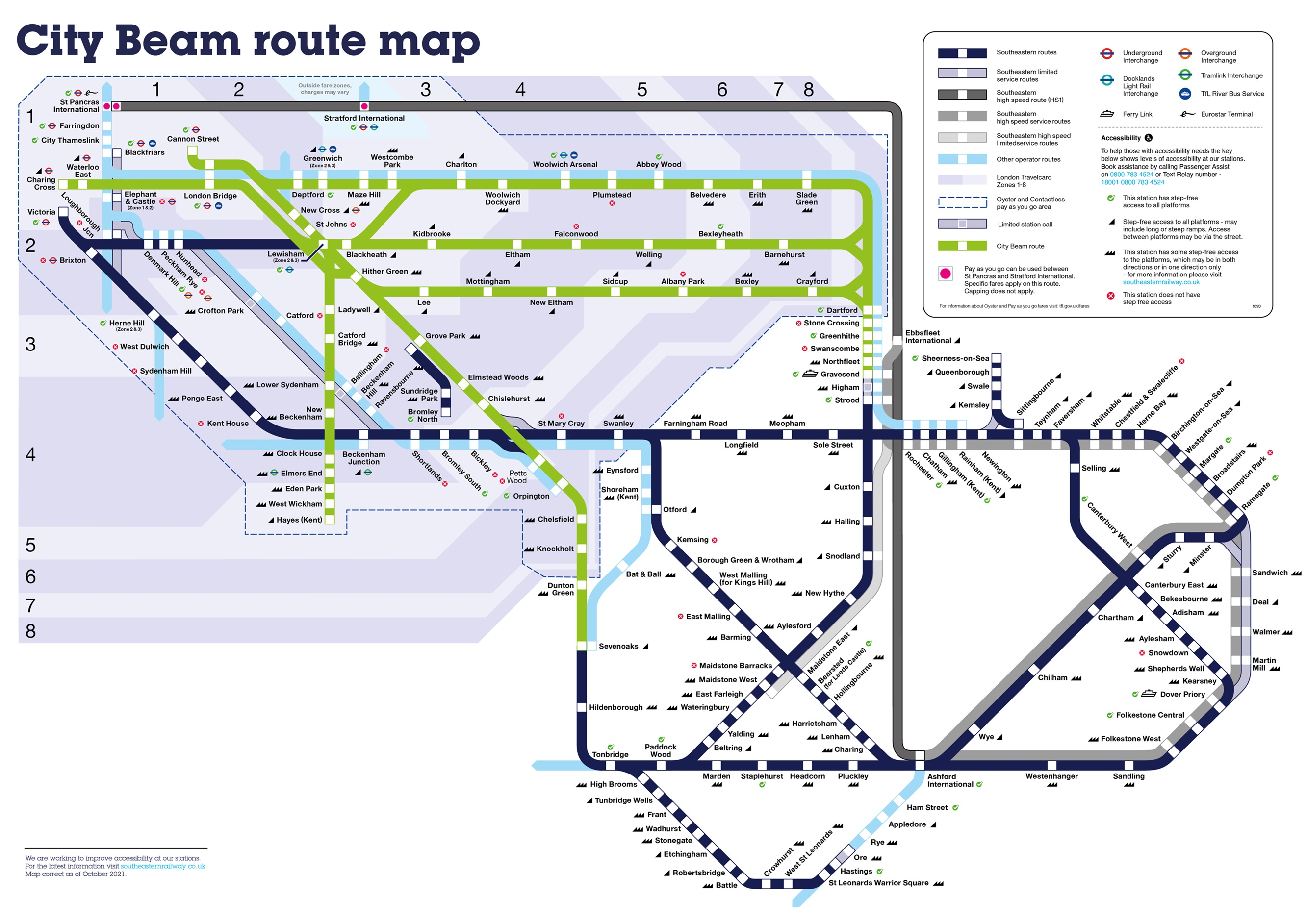 City Beam route map