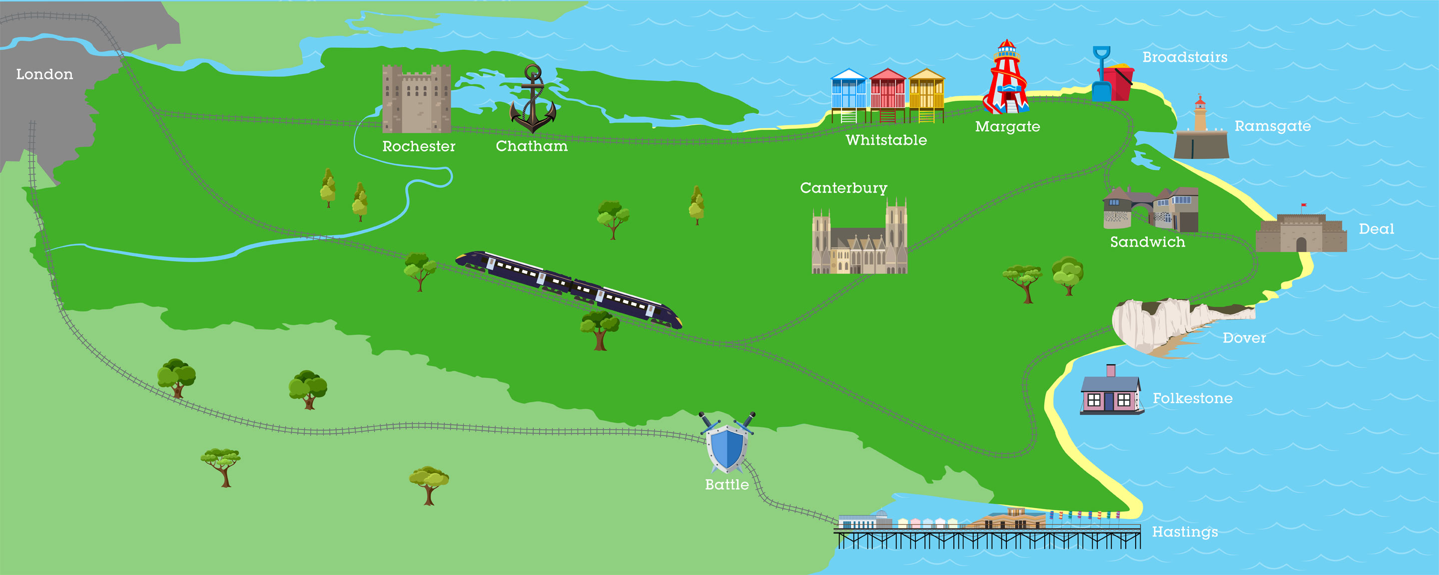 Attractions maps of London and the South East