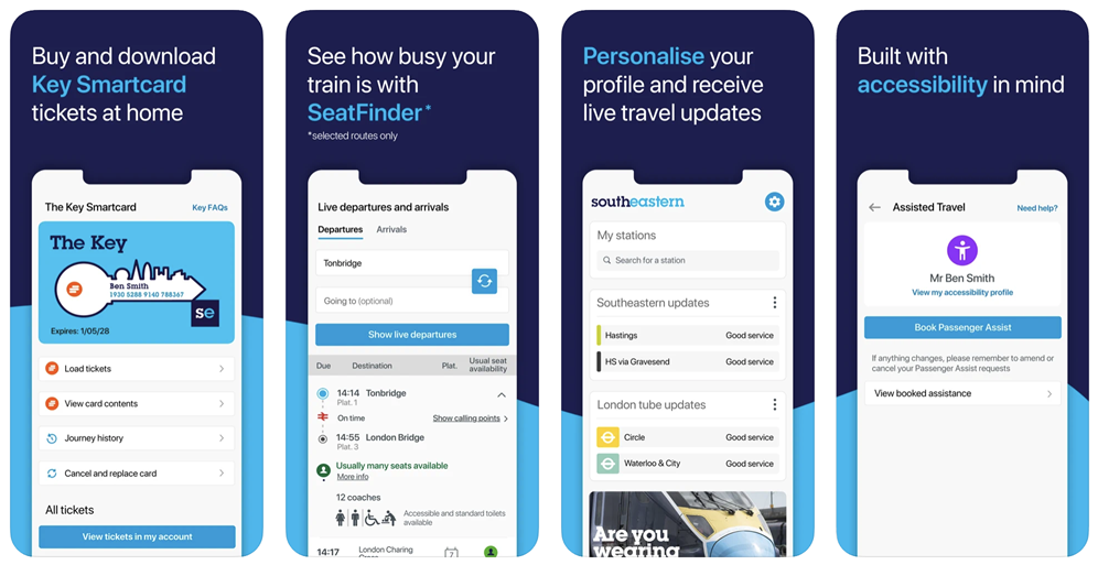 New Southeastern app screenshots