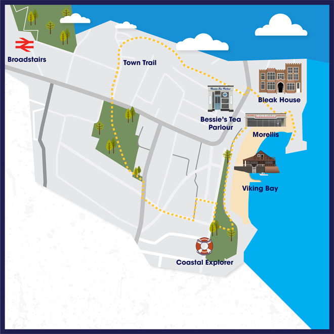 Attraction map of Broadstairs