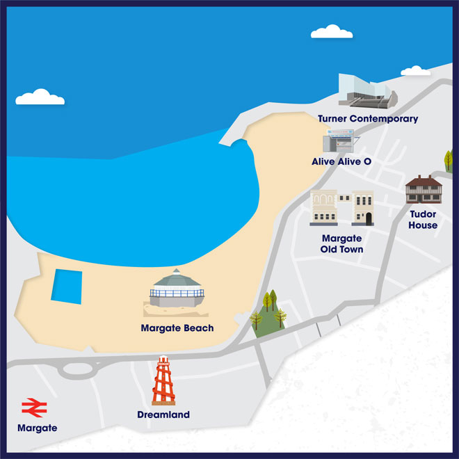 Attraction map of Margate