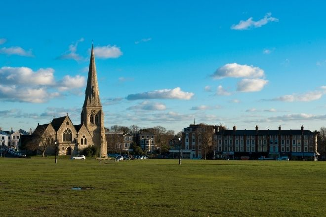 Blackheath church on the common